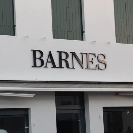 Barnes Enseigne PVC épaisseur 19 mm teinté sur face avant et chants