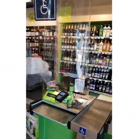 Hygiaphone vitre de protection Plexiglas caisses pour personnes à mobilité réduite de Carrefour City