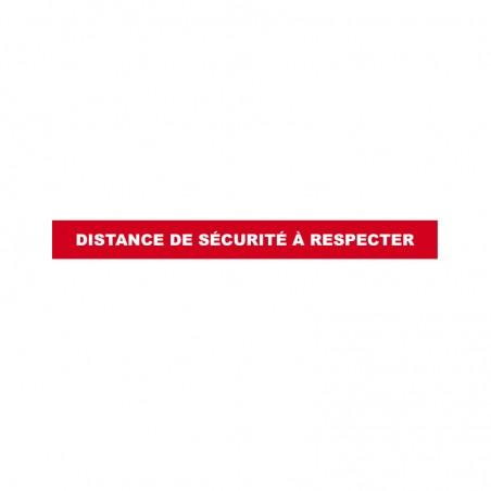 """Sticker bande marquage au sol """"Distance de sécurité à respecter"""""""