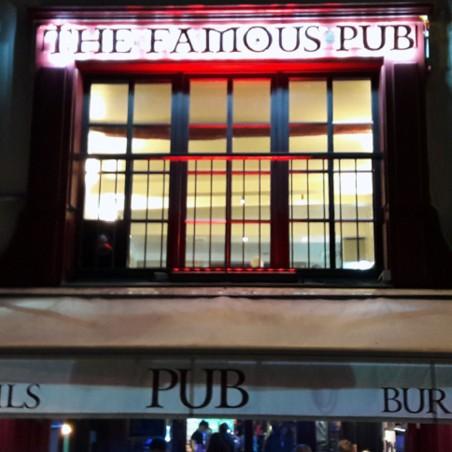 The Famous Pub Enseigne PVC lumineuse à led devanture restaurant