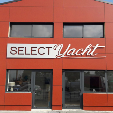Select Yacht enseigne en dibond lettrage extérieur