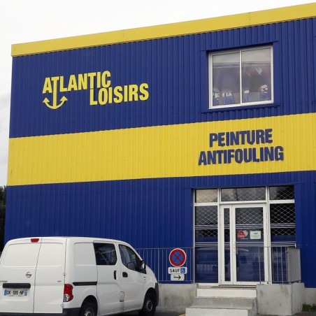 Atlantic Loisirs enseigne en dibond lettrage extérieur