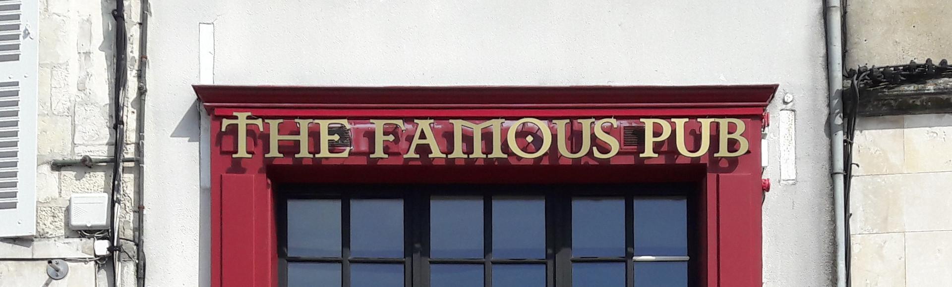 Enseigne The Famous Pub